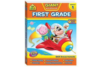 School Zone Giant First Grade Workbook