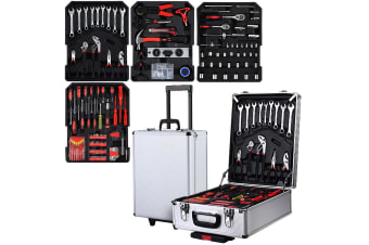 Giantz 802pcs Tool Kit Trolley Case Mechanics Box Toolbox Portable DIY Set SL
