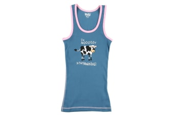 LazyOne Womens Mooody In The Morning PJ Tank Top (May Vary)