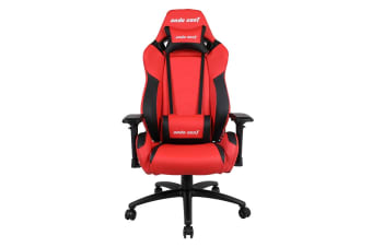 Anda Seat AD7-23 Large Gaming Chair with 4D Armrest, 60mm Casters, Premium Black Aluminium Feet - Red/Black