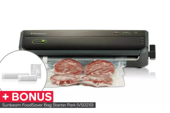 Sunbeam FoodSaver Lock & Seal Vacuum Sealer with Bonus Bag Starter Pack