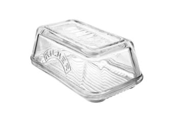 Kilner Glass Butter Dish Dishwasher Microwave Safe Storage Container Tableware
