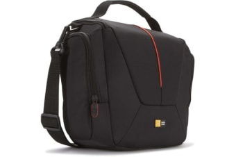 Case Logic Camera Bag with Shoulder Strap & Pockets - Black & red