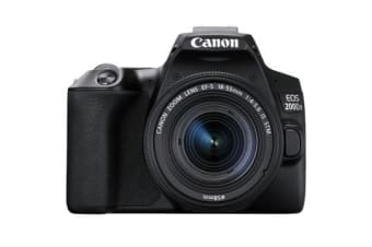 New Canon EOS 200D II 24.2MP Kit (18-55mm) Digital Camera Black (FREE DELIVERY + 1 YEAR AU WARRANTY)