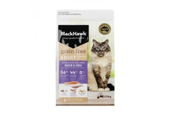 Black Hawk Feline Grain Free Duck Fish - 2.5kg