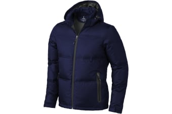 Elevate Mens Caledon Down Jacket (Navy) (XS)