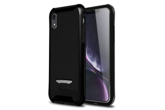 Bumblebee TPU + PC Texture Protective Back Cover Case For iPhone XR Black
