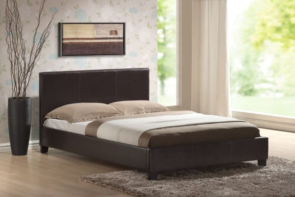 Mondeo Bed Frame (Queen/Brown)