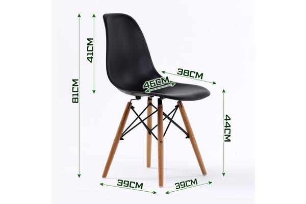 Replica Eames DSW Dining Chair - BLACK X4