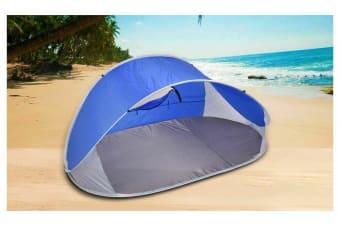 4 Person Pop Up Camping Tent Beach Shelter Hiking Sun Shade Shelter Fishing Grey