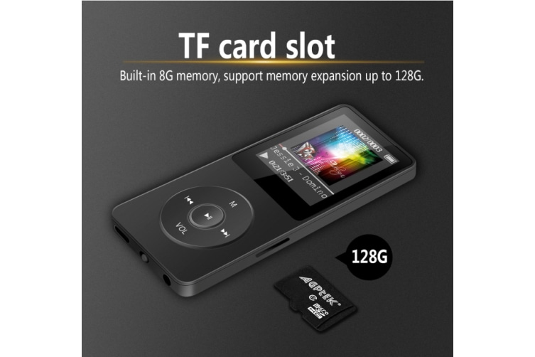 8GB MP3 Lossless Sound Music Player (Supports up to 128GB)