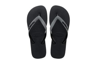 Havaianas Top Mix Thongs (Black/Steel Grey/Black)