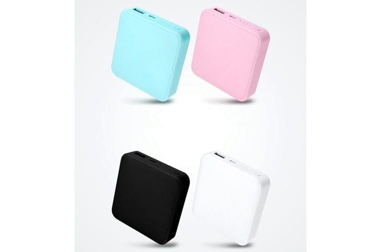 Mini Power Bank Portable Charging Treasure Output Phone Charger For Smart Phone Blue 10000Mah