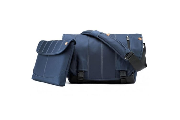 "Booq BNL-NVY Navy Boa Nerve Laptop Carry Bag for 15-17"" Mac/PC/Shoulder Strap"