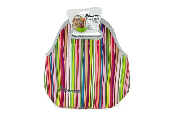 Go Gourmet Lunch Tote Stripes