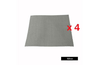 4 Pieces of Woven Table Placemats Silver by Choice
