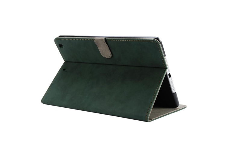 Classic Pu Leather Smart Cover Case for Apple iPad Air 1-DarkGreen