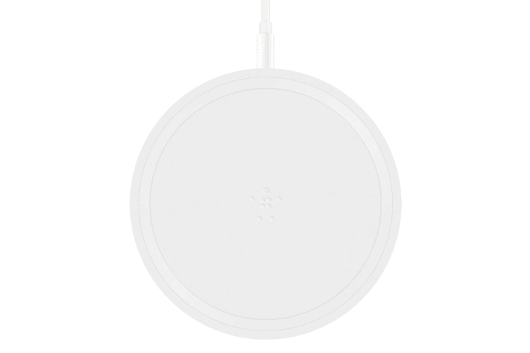 Belkin Qi Boost Up Bold Wireless 10W Charging Pad for iPhone, Samsung, LG and Sony - White (F7U050AUWHT)