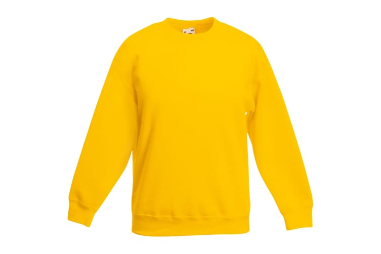 Fruit Of The Loom Kids Unisex Classic 80/20 Set-In Sweatshirt (Pack of 2) (Sunflower) (9-11)