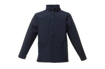 Regatta Uproar Mens Softshell Wind Resistant Fleece Jacket (Navy/Navy)