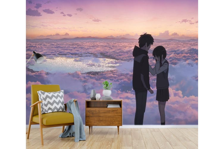3D Your Name 074 Anime Wall Murals Woven paper (need glue), XL 208cm x 146cm (WxH)(82''x58'')