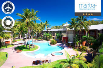 PALM COVE: 5 Nights at Mantra Amphora in a Hotel Spa Room with Flights for Two