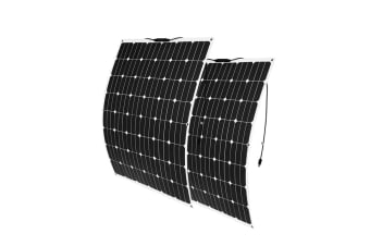 ATEM POWER 2x 12V 200W Flexible Solar Panel Kit Panels Generator Power Charging Caravan Boat