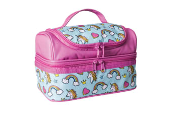 Avanti Yum Yum Kids 2 Compartment Double Decker Insulated Meal Lunch Bag Unicorn