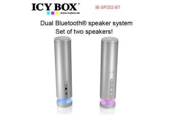 ICYBOX IB-SP202-BT Dual Bluetooth?? speaker system - Set of two speakers!