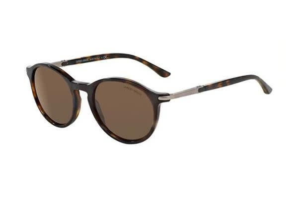 Giorgio Armani AR8009 52mm - Dark Havana (Dark Brown lens) Unisex Sunglasses