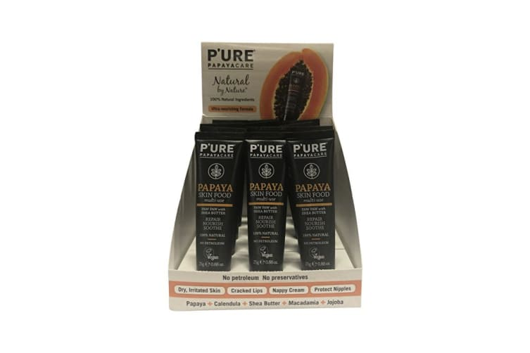 P'ure Papayacare Papaya Skin Food 25g x 12 Display