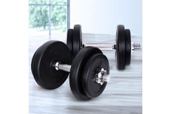 Everfit 20KG Dumbbell Set Weight Dumbbells Plates Home Gym Fitness Exercise