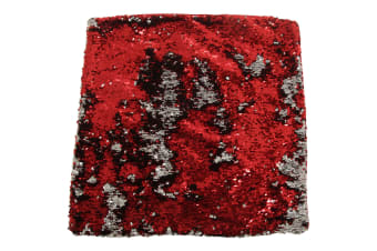 Panache Danni Reversible Sequin Cushion Cover (Red/Silver)