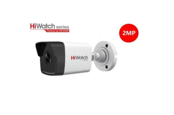 Hiwatch Surveillance IPC-B120-I PoE IP Security Camera, Outdoor Bullet, 2MP, Fixed Lens 4mm