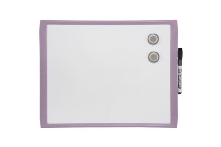 Quartet 36cm Purple Wall Mountable Magnetic Whiteboard/Marker/Magnet Home Office