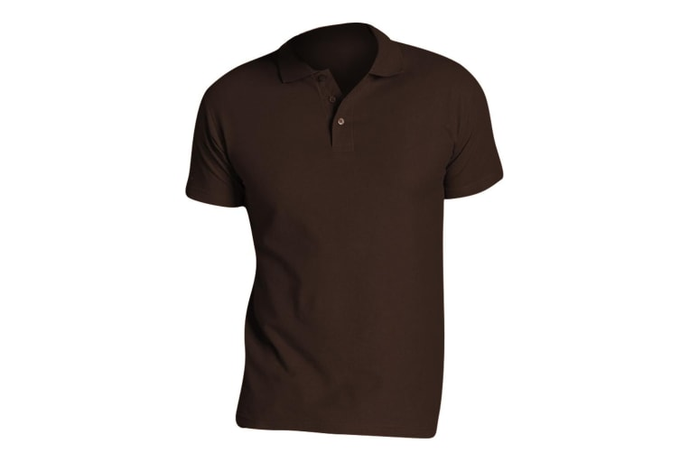 SOLS Mens Summer II Pique Short Sleeve Polo Shirt (Chocolate) (S)