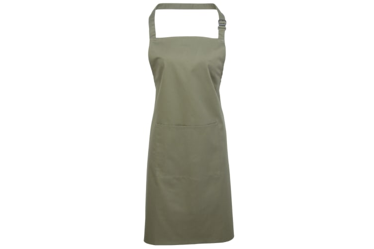 Premier Ladies/Womens Colours Bip Apron With Pocket / Workwear (Sage) (One Size)