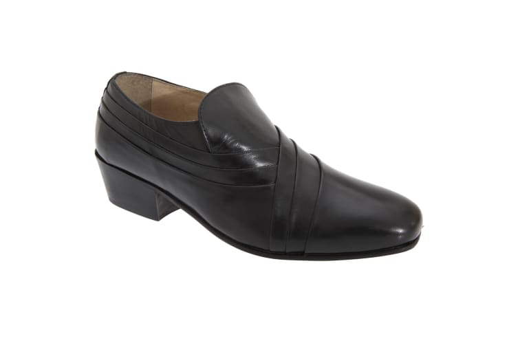 Montecatini Mens Pleated Vamp Softie Leather Shoes (Black) (6 UK)