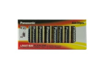 Panasonic 20 Pack Aaa Alkaline Battery