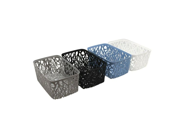 4 x Multi-Purpose Vin Plastic Storage Basket Home Office Storage Large Small