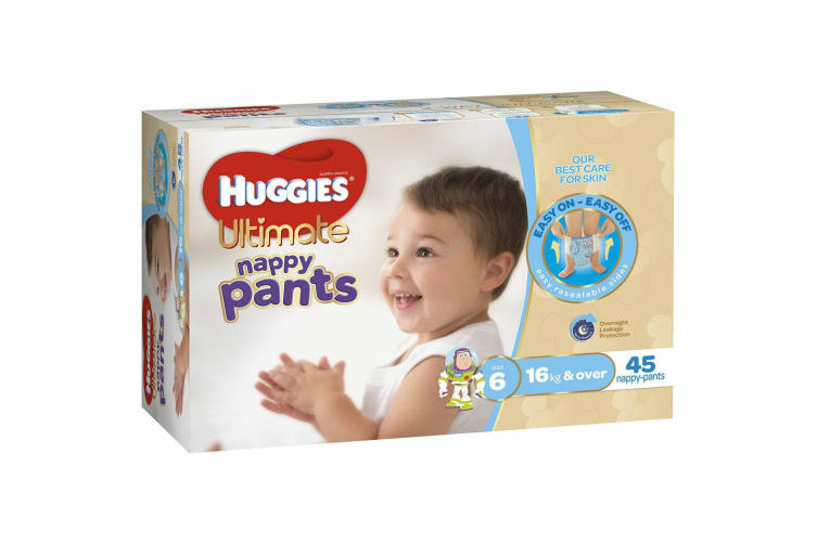 180PK Huggies Ultimate Nappy/Diapers Pants Boys/Infant/Toddler Junior Size6 16kg