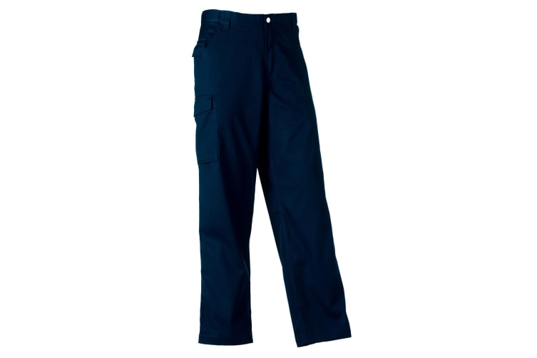 Russell Workwear Mens Polycotton Twill Trouser / Pants (Regular) (French Navy) (46W x Regular)