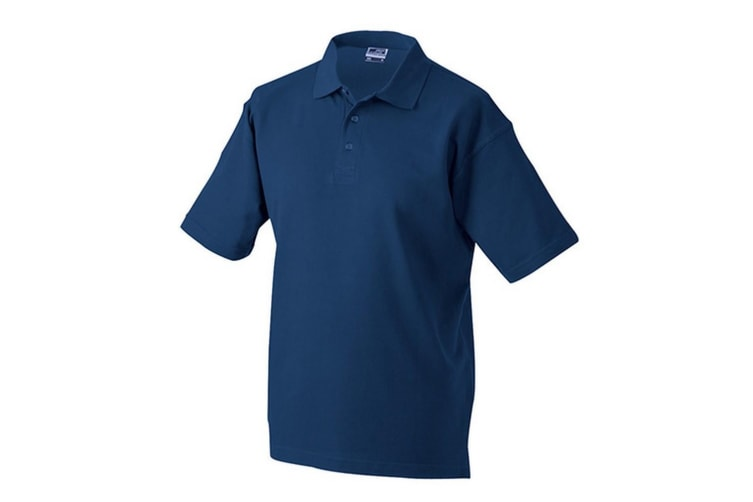 James and Nicholson Unisex Worker Polo Shirt (Navy) (3XL)