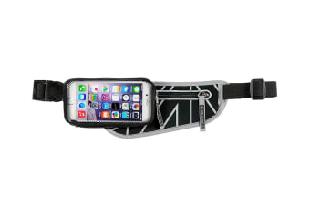 """Allsop ClickGo Running/Gym Water Proof Belt w/Zip Pouch/5.7"""" Case For Phones GRY"""