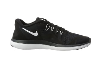 Nike Women's Flex RN 2017 Running Shoe (Black/White, Size 5.5 US)