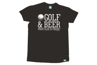 Out Of Bounds Golf Tee - Golf And Beer - (4X-Large Black Mens T Shirt)
