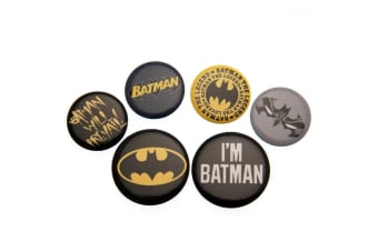 DC Batman Button Badge Set (Pack of 5) (Multicolour) (One Size)