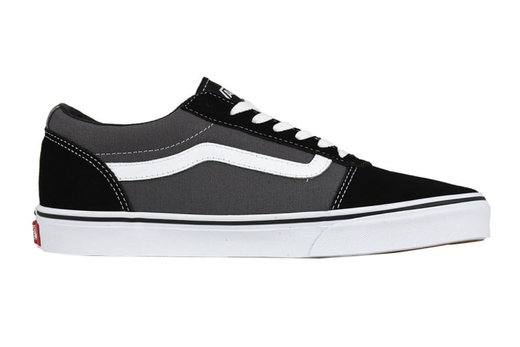 Vans Men's Ward Suede Canvas Shoe (Black/Pewter, Size 7.5 US)