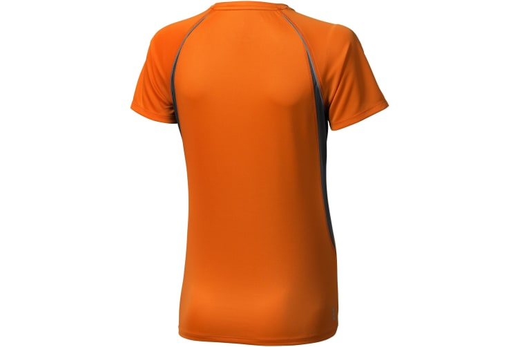 Elevate Womens/Ladies Quebec Short Sleeve T-Shirt (Orange/Anthracite) (S)