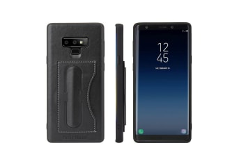 For Samsung Galaxy Note 9 Case Luxury Leather Phone Cover Kickstand Black